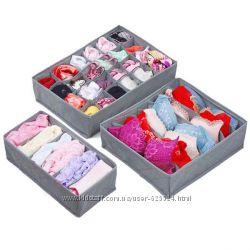 Набор органайзеров для нижнего белья, носков, одежды 3 шт. 1001927