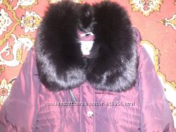 Зимняя курточка с мехом писец  штаны на флисе