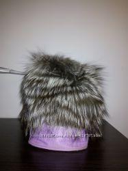 шапка чорнобурка