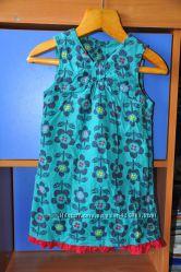 Яркое платье-сарафан M&S микровельвет