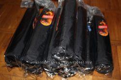 Мужской зонт черный King Rain полуавтомат 3 сложения карбон антиветер новые