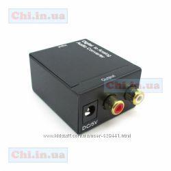 Конвертер-адаптер цифровой в аналоговый аудио сигнал RCA