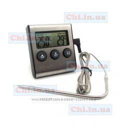 Термометр TA-026 с иглой на проводе с сигнализацией alarmтаймер времени