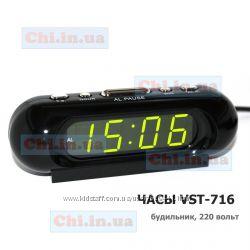 Часы VST-716 будильник от сети 220В