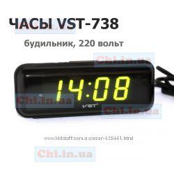 Часы будильник VST-738 ВСТ 738, 220 Вольт