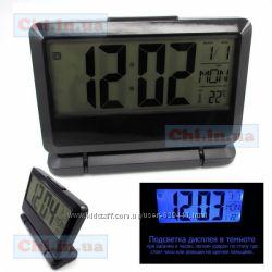 Настольные электронные часы DK-022 с термометром, подсветкой, будильником