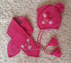 Зимняя шапка и шарфик TuTu размер 42-46