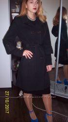 пальто кашемир 46 р-р классика пояс капюшон