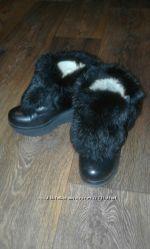 продам натуральные кожаные зимние ботинки