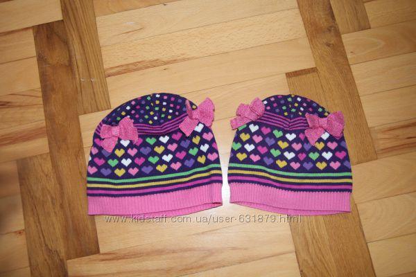 две шапочки H&M  в отличном состоянии на 6-8 лет-52 см и 1-3 года
