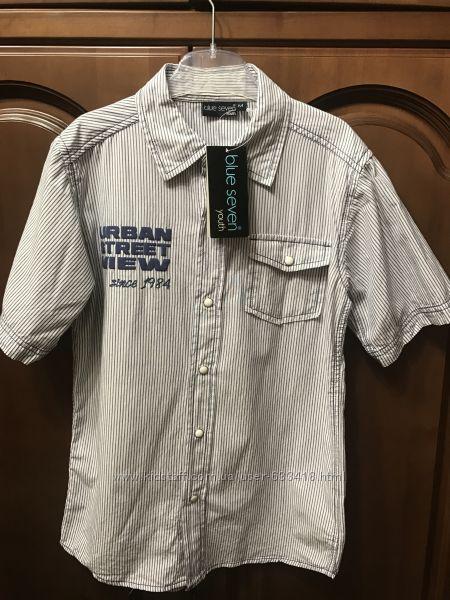Новая фирменная модная рубашка на мальчика подростка р 152