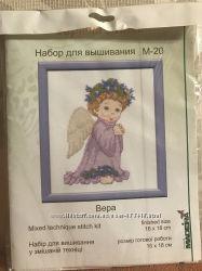 Набор для вышивания нитками и биссером Вера