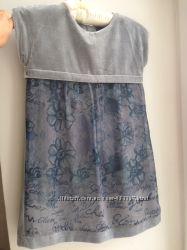Платье нарядное отделка велюр Chiccp