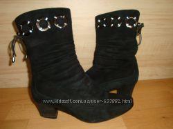 Зимние, замшевые ботинки, сапожки 37 р.