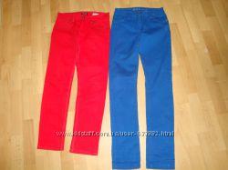 Фирменные, яркие брюки H&M, Skinny.
