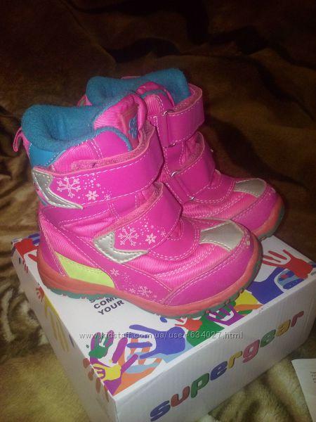 Зимние термо-ботиночки на девочку SUPER GEAR