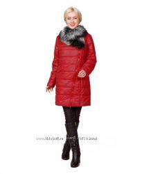 Красивое теплое красное пальто Цена снижена