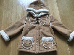 Меховая куртяшка на весну-осень на принцессу 4-5 лет