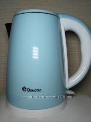 Электрочайник Domotec DT-902 чайник 2 л. белый и голубой