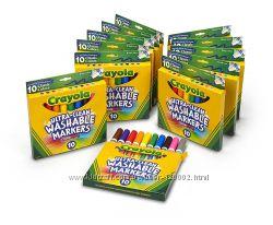 Фломастеры Сrayola широкие легкосмываемые, 10 штук, оригинал из Америки