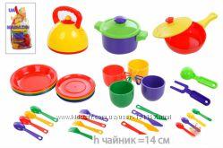 Детская посуда Юника. 33 предмета.  Производитель Украина. В наличии.