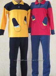 Пижамки флисовые и трикотажные