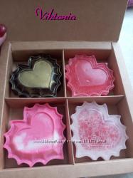 Мыло Ручной работы Клубничное и шоколадное сердечко