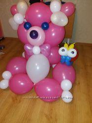 цветы и фигурки из воздушных шариков