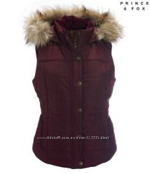 Жилет Aeropostale Prince & Fox Edge Trim Puffer Vest, размер S, черная