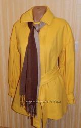Моя пересылка. Яркое, желтое, весеннее пальто. Размеры 48-52. Качество