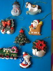 Новогодние игрушки из гипса . Украшения на елку. сделанные своими руками.
