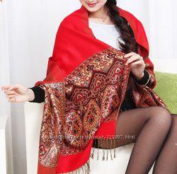 Красивый палантин из натуральной шерсти купить онлайн выгодно в Катакали