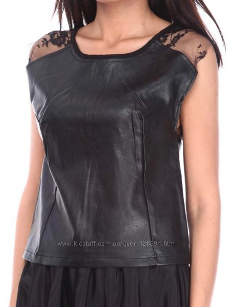 Кожаный топ блуза Sisters Point