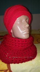 Снуды, шарфы, шапки ручной работы в наличии и под заказ