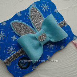 Нарядные повязки. Новый год. Handmade. для малышек