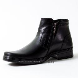 ботинки мужские зимние на меху кожа  2000руб.
