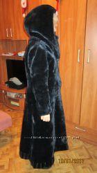 шуба-пальто зимнее