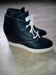 Стильные деми ботинки кожа р. 37