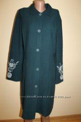 XL разм. Suba the noa noa Дизайнерское теплое пальто натуральная шерсть.