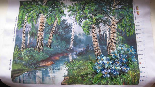 Картина бисером Березы