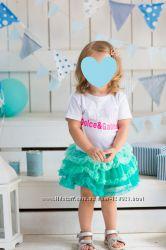 Фатиновая юбка бирюзовая