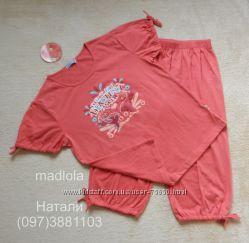 Пижама женская, футболка и капри, Natural Club, Польша, размер S-M