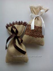 мешочки из мешковины чая, кофе, специй, аромосаше, для подарочных наборов