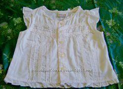 Беленькая блузочка до роста 92 см
