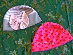 Деми шапочки для девочки 2-3 г. обхват 48 см