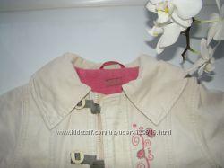 Пальто деми утепленное флисом для девочки, PAMPOLINA, р110.