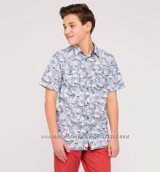 Новые стильные хлопковые рубашки р. 134-140 фирмы C&A