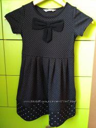 Черное платье в горошек H&M 2-4Y