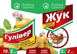 Защита картофеля от вредителей. Инсектицид АТО ЖУК 3 мл   Гулливер Стимул