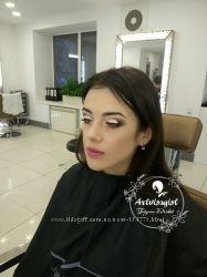 Все виды макияжа, выпускной макияж, коррекция бровей. Карандашная техника.